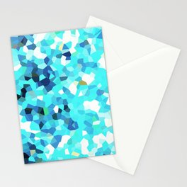 MOSAIC CYAN TEXTURE PATTERN - For IPhone - Stationery Cards