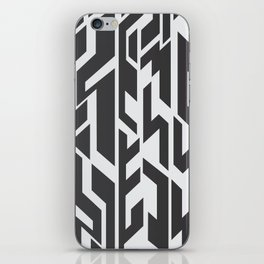 black and White.  iPhone Skin