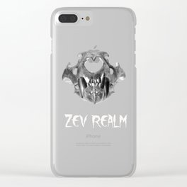 Lion skull Clear iPhone Case