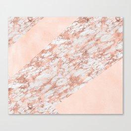 Massarossa rose gold marble - soft blush texture Canvas Print
