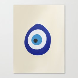 Blue Evil Eye Canvas Print
