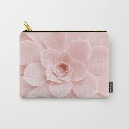 Blush Succulent Carry-All Pouch