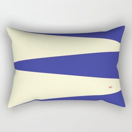 BLUE CIRCUS DREAM #blue #circus #minimal #art #design #kirovair #buyart #decor #home Rectangular Pillow