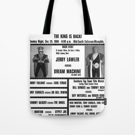 #9 Memphis Wrestling Window Card Tote Bag