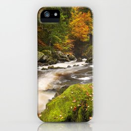 III - River through autumn colours at the Hermitage, Scotland iPhone Case
