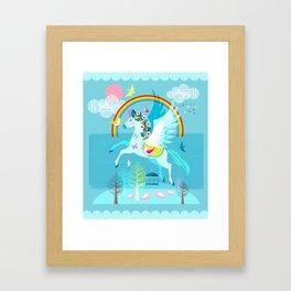 flying unicorn Framed Art Print