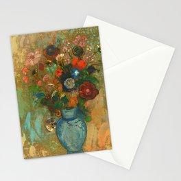 "Odilon Redon ""Fleurs dans un vase bleu"" Stationery Cards"