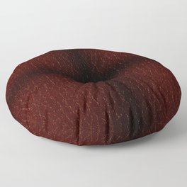 Maroon porous leather sheet texture abstract Floor Pillow