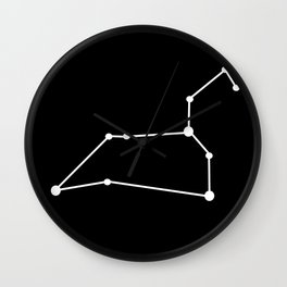 Leo (White & Black) Wall Clock