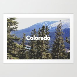 Colorado, Pikes Peak Art Print