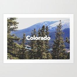 Colorado, Pikes Peak Art Print