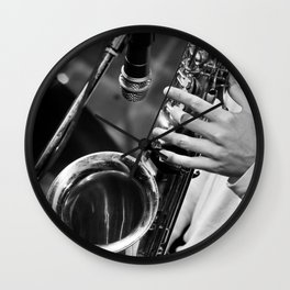 Jazz and Saxophone Wall Clock