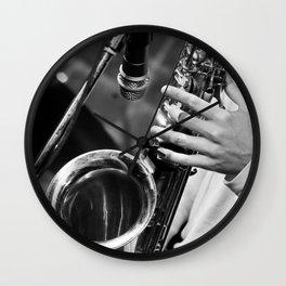 Jazz and Saxophone Wall Clock
