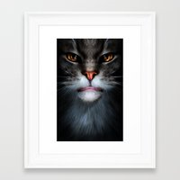 ben giles Framed Art Prints featuring Ben by Kerri Ann Crau