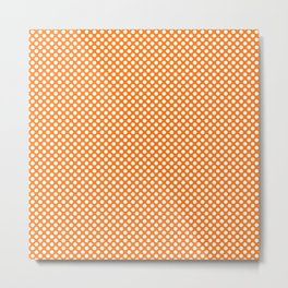 Orange Popsicle and White Polka Dots Metal Print