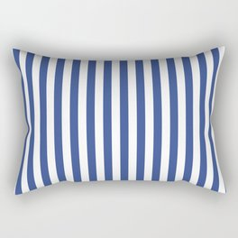 Stripe blue & white vertical Rectangular Pillow