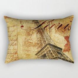 Paris vintage poster. Rectangular Pillow
