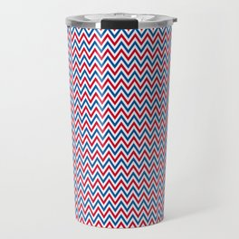 Patriotic Chevron Travel Mug
