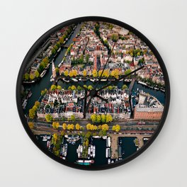 Amsterdam Houseboats & Canals Wall Clock