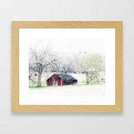 old man red Framed Art Print