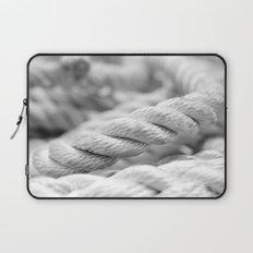 Ropes black and white macro Laptop Sleeve