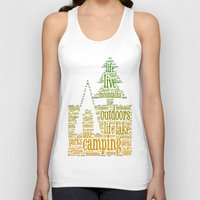 camping Tank Tops featuring Camping by windkist