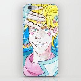 Caesar Zeppeli Watercolor iPhone Skin
