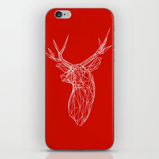 3D Stag Trophey Head Wire Frame iPhone Skin