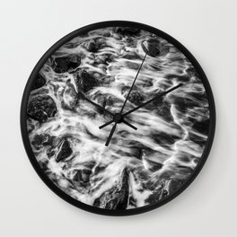 Colorless Slow Motion Wall Clock