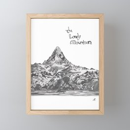 lonely mountain Framed Mini Art Print