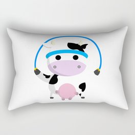 TeeTee - The Aerobic Cow #02 Rectangular Pillow