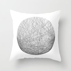 circle_lines_#1 Throw Pillow