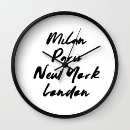 Milan Paris New york London Wall Clock