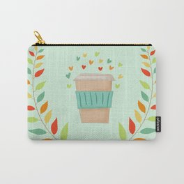 Love Coffee Autumn Colours Carry-All Pouch