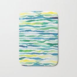 Ocean Zebra Chevron Bath Mat