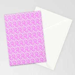 Lattice Pattern (Pink) Stationery Cards
