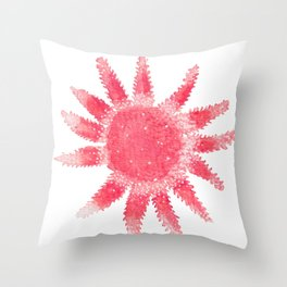 Starfish - Red Palette Throw Pillow