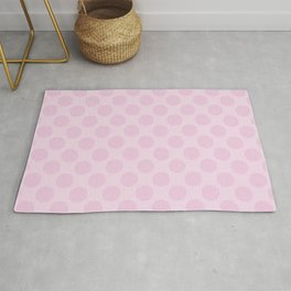 Pale Pink Polka Dots Rug