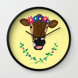 Spring Cow Wall Clock
