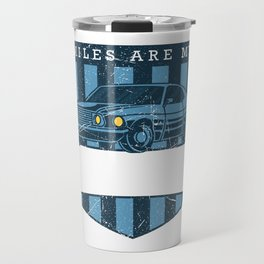 MILES FOR MEDITATION Muscle Car Gift For Car Lover Travel Mug