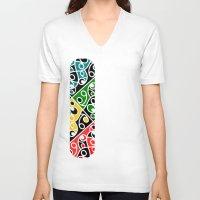 maori V-neck T-shirts featuring Maori Kowhaiwhai Pattern by mailboxdisco