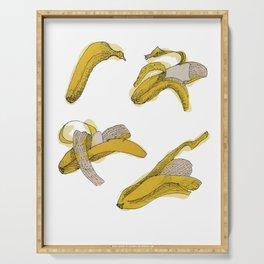 Eating process (Banana) // watercolor banana consumption Serving Tray