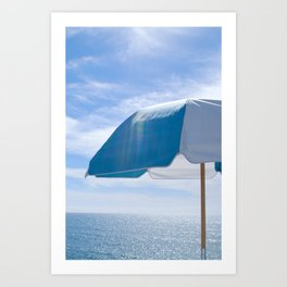 Malibu Umbrella Art Print