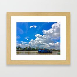 The River Bank Framed Art Print