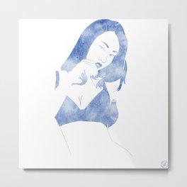 Susie Blue Metal Print