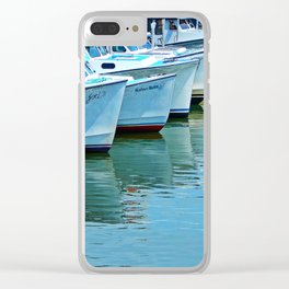 Boats Reflected Clear iPhone Case