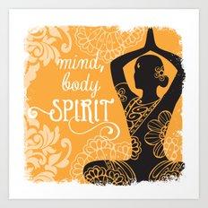 Mind, Body, Spirit Art Print