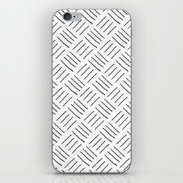 Gray and White Cross Hatch Design Pattern iPhone Skin
