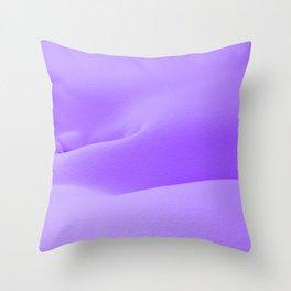 Purple Snow Throw Pillow