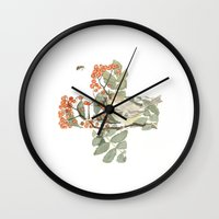 health Wall Clocks featuring Enviro Health by Chloe Evert